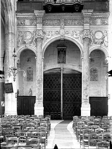 Eglise Saint-Gervais-Saint-Protais Tribune des orgues, Gossin (photographe),