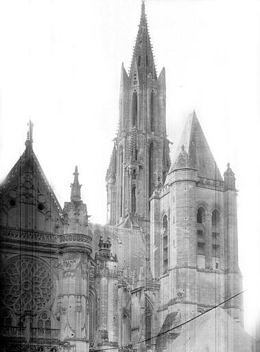 Eglise Notre-Dame ; Cathédrale (ancienne) Façade nord : partie ouest, Durand, Jean-Eugène (photographe),