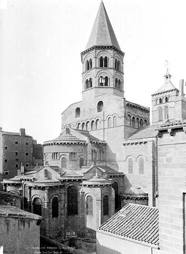 Eglise Notre-Dame-du-Port Chevet et clocher, côté nord-est, Durand, Jean-Eugène (photographe),