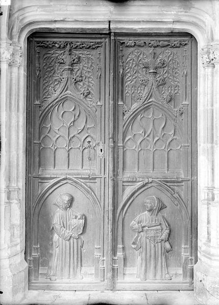 Chartreuse Saint-Sauveur (ancienne) Porte de l'église, Durand, Eugène (photographe),