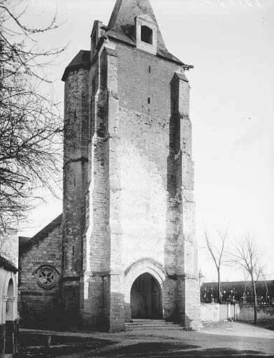 Eglise Clocher: façade ouest, Enlart, Camille (historien),
