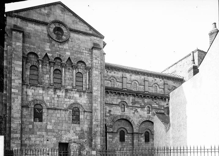 Eglise Saint-Etienne Façade latérale et transept, Enlart, Camille (historien),