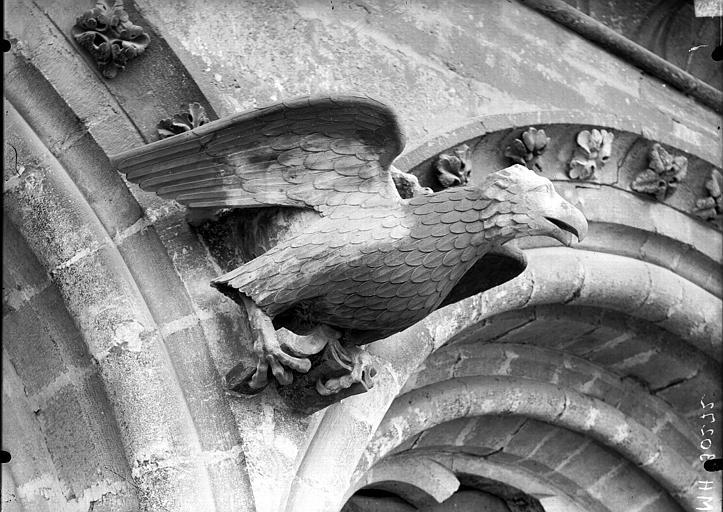 Cathédrale Notre-Dame Bras nord du transept, l'Aigle de saint Jean, après restauration, Lajoie, Abel,