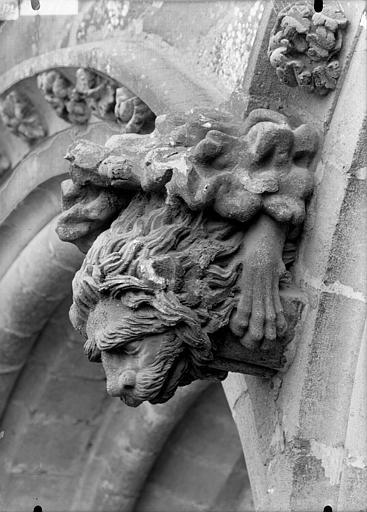 Cathédrale Notre-Dame Sommier d'arc, bras nord du transept, le Lion de saint Marc, Lajoie, Abel,