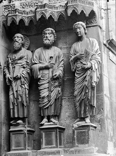 Cathédrale Notre-Dame Portail nord, portail de la Résurrection, ébrasement droit, Lajoie, Abel,