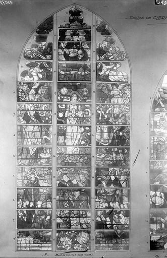 Eglise Vitraux, chapelle nord, baie F, Service photographique,