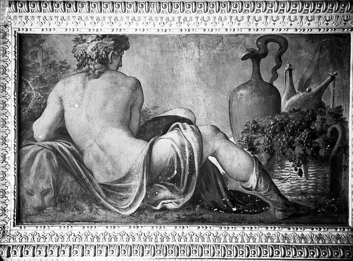 Domaine national, château Peintures murales de la galerie Henri II, Vertumne, Service photographique,