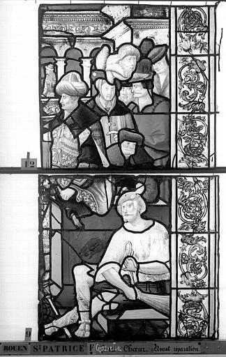 Eglise Saint-Patrice Vitrail, fenêtre gauche, sixième panneau, Heuzé, Henri (photographe),