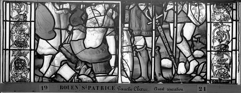 Eglise Saint-Patrice Vitrail, fenêtre gauche, troisième panneau, Heuzé, Henri (photographe),