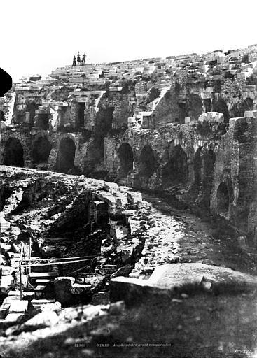 Amphithéâtre Vue intérieure (partie droite du panorama), Baldus, Edouard (photographe),