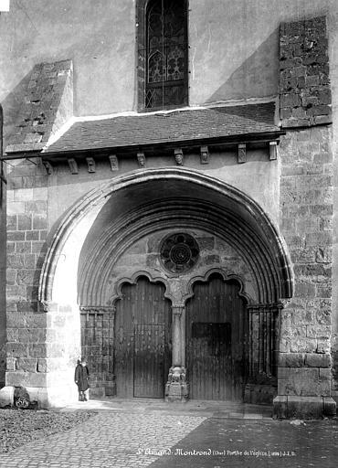 Eglise Portail ouest, Durand, Eugène (photographe),