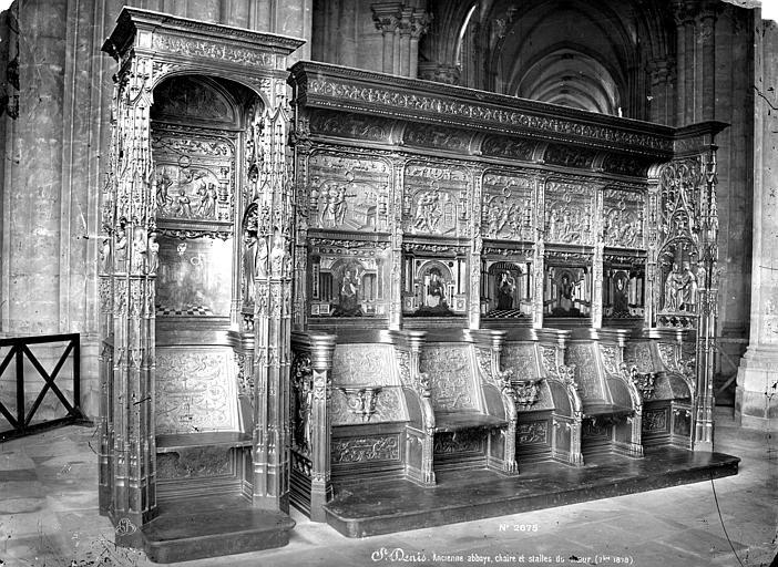 Basilique Saint-Denis Stalles du choeur et chaire, Mieusement, Médéric (photographe),