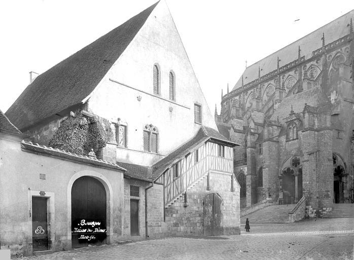 Grange aux Dîmes ; Cathédrale Saint-Etienne , Durand, Eugène (photographe),