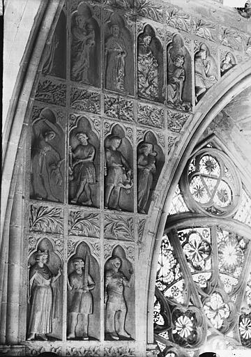 Cathédrale Notre-Dame Façade ouest, revers, partie supérieure à gauche, Massacre des Innocents, Lajoie, Abel,