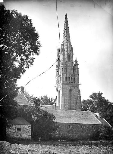 Eglise de Ploaré Clocher, côté nord-est, Mieusement, Médéric (photographe),