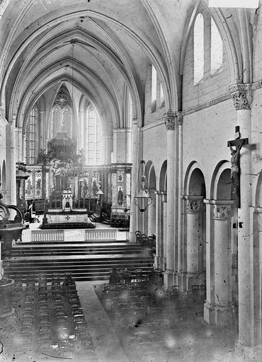 Cathédrale Saint-Dié Nef, vue de l'entrée, Durand, Georges (photographe à Amiens),