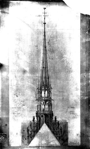 Cathédrale Notre-Dame Flèche, relevé, Mieusement, Médéric (photographe),