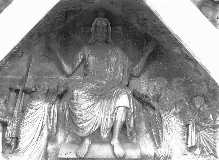 Cathédrale Notre-Dame Portail nord, Christ présentant les stigmates, Lajoie, Abel,