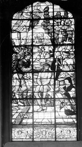 Hôpital Vitrail de la chapelle : Le Couronnement d'épines, Heuzé, Henri (photographe),