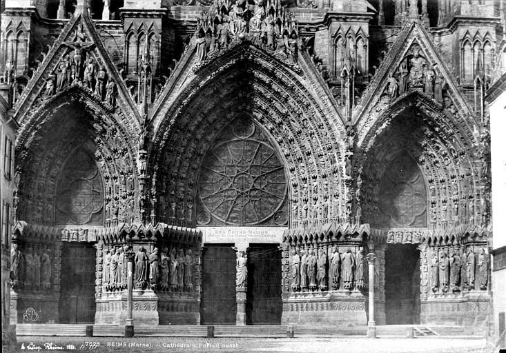Cathédrale Notre-Dame Portails de la façade ouest, Le Secq, Henri (photographe),
