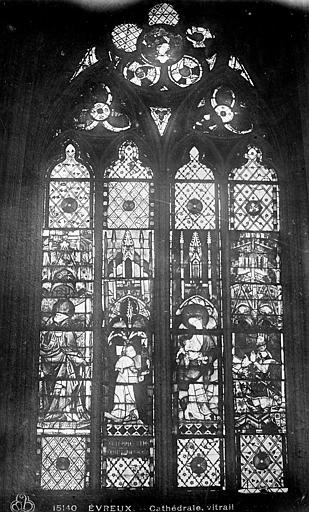 Cathédrale Notre-Dame Vitrail : fenêtre haute du choeur, Leprévost (photographe),