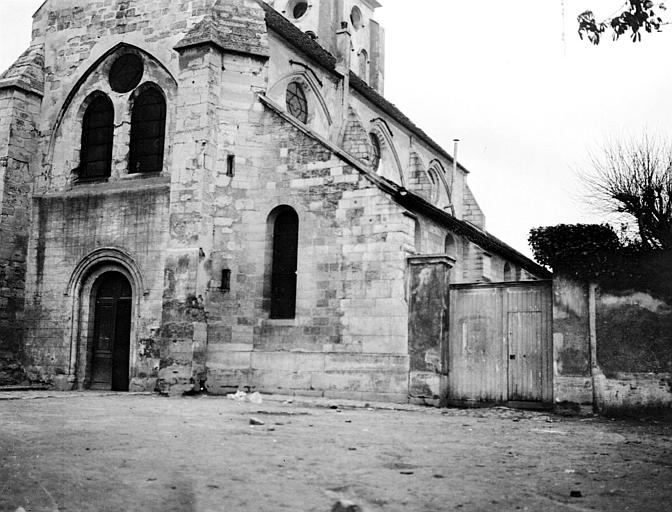 Eglise Angle sud-ouest, Chaine, Henri (architecte),