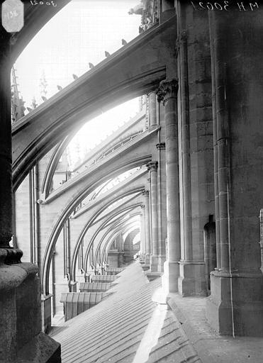 Cathédrale Notre-Dame Arcs-boutants de la nef, au nord, Lajoie, Abel,
