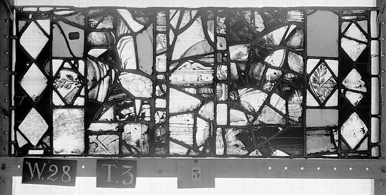 Cathédrale Vitrail, Chapelle Saint-Joseph, lancette de droite, Légende de saint Romain, neuvième panneau, en haut, Heuzé, Henri (photographe),
