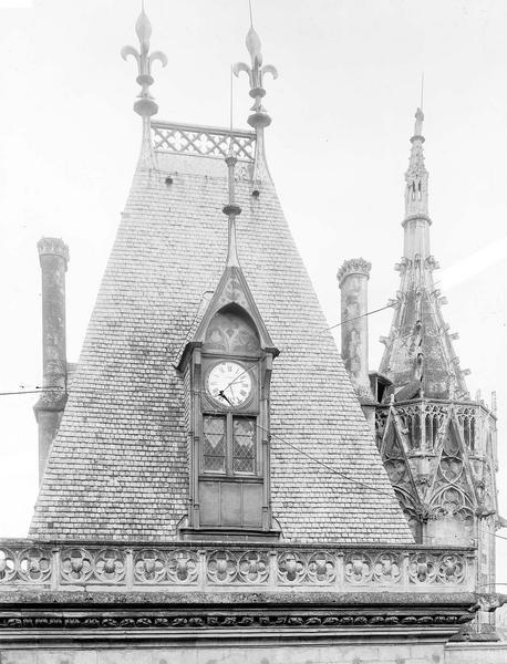 Hôtel de Jacques-Coeur Toiture du grand escalier et tourelle octogonale, Durand, Eugène (photographe),