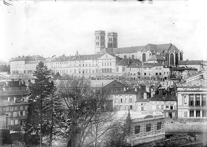 Evêché (ancien) ; Cathédrale Notre-Dame-de-l'Assomption Vue générale prise du sud-est, Vercollier (abbé),