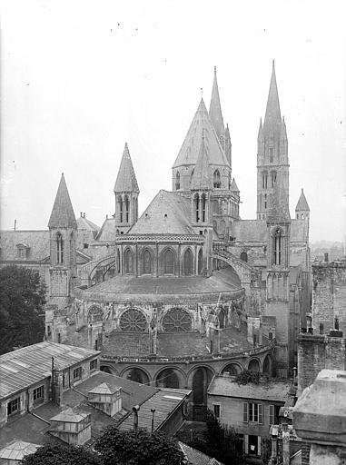 Abbaye aux Hommes (ancienne) ; Eglise abbatiale Saint-Etienne Ensemble est, Heuzé, Henri (photographe),