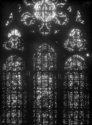 Cathédrale Notre-Dame Chapelles du choeur, vitrail R', Gaudin,