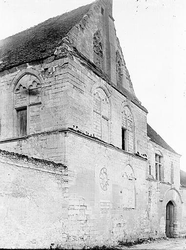 Prieuré Saint-Nicolas de Saint-Paterne (ancien) Façade: vue diagonale, Enlart, Camille (historien),