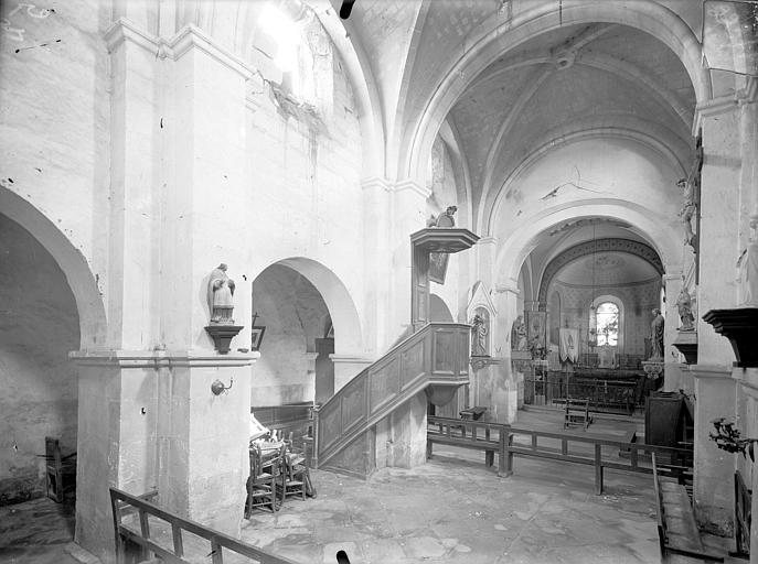 Eglise Saint-Martin Vue intérieure de la nef vers le nord-est, Queste, P. photographe),