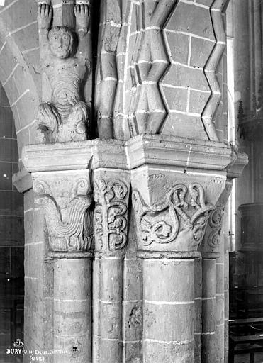 Eglise Saint-Lucien Chapiteaux du choeur, Robert, Paul (photographe),