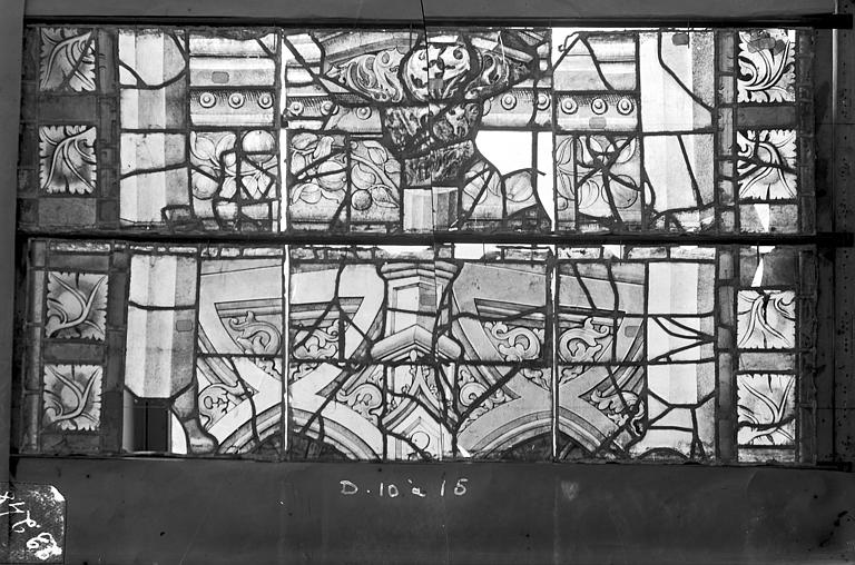 Cathédrale Saint-Etienne (ancienne) Vitrail du transept nord, fenêtre D, panneau médian du précédent, Romanais (photographe),