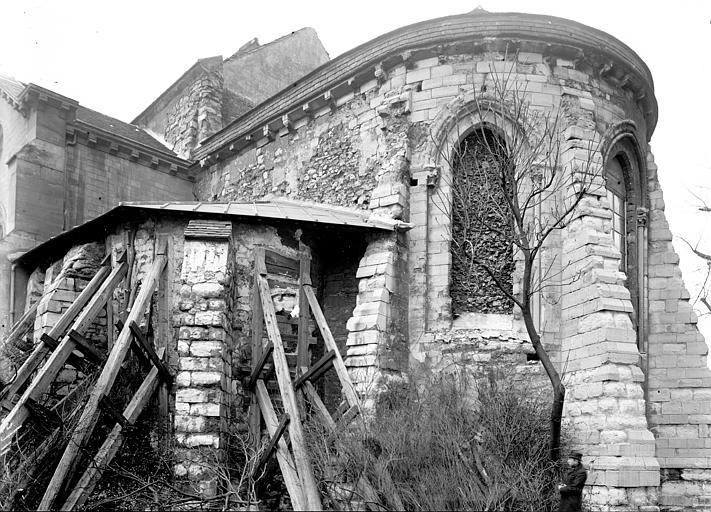 Eglise Saint-Pierre-de-Montmartre Abside étayée, Enlart, Camille (historien),