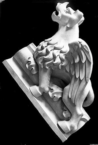 Cathédrale Notre-Dame Bras sud du transept, bête d'amortissement du rampant du pignon, Lajoie, Abel,