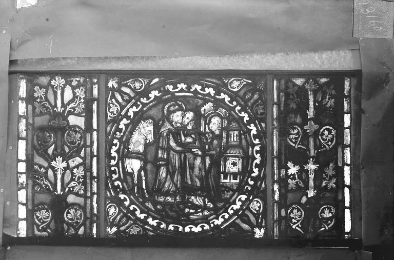 Eglise Saint-Gengoult Vitrail de l'abside, lancette gauche, panneaux supérieurs 11, Romanais (photographe),