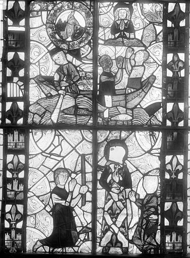 Eglise Sainte-Radegonde Vitrail : Scènes légendaires, Durand, Jean-Eugène (photographe),
