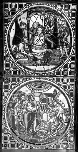 Cathédrale Saint-Jean Vitrail : Martyre d'un saint. Guérison d'un paralytique, ,