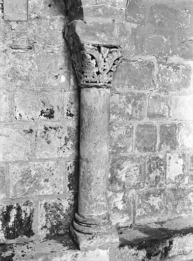 Eglise Saint-Jean de Montierneuf Arcatures de la nef : Une colonnette et son chapiteau, Gossin (photographe),