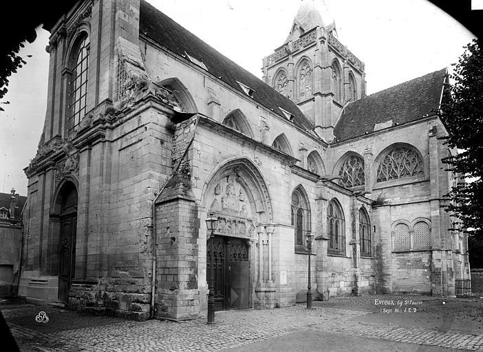 Eglise Saint-Taurin Façade sud-ouest, Durand, Eugène (photographe),