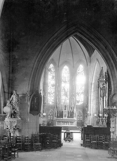 Eglise Notre-Dame-de-Froide-Rue (ancienne) ou Eglise Saint-Sauveur (actuelle) Vue intérieure de la chapelle Saint-Joseph, Durand, Jean-Eugène (photographe),