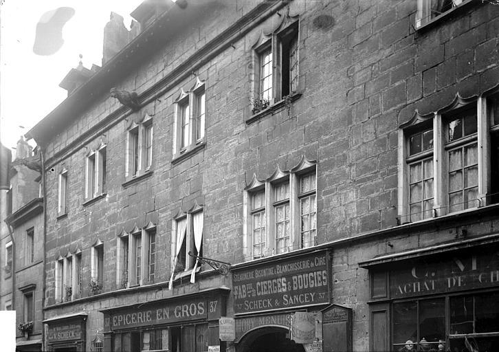 Maisons Façades: partie haute, Enlart, Camille (historien),