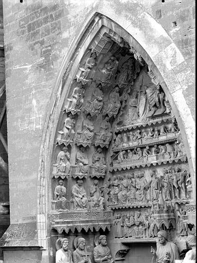 Cathédrale Notre-Dame Portail nord, portail de la Résurrection, Lajoie, Abel,