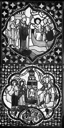 Cathédrale Saint-Jean Vitrail : Vie de saint Etienne, ,
