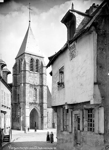 Eglise Façade ouest : clocher-porche, Mieusement, Médéric (photographe),