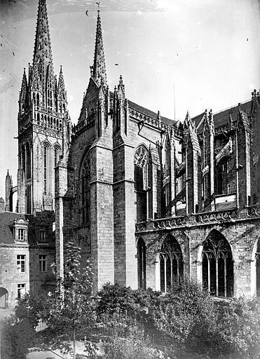 Cathédrale Saint-Corentin Façade sud : transept, Mieusement, Médéric (photographe),