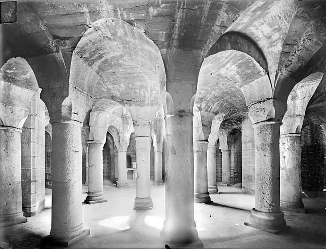 Cathédrale Saint-Bénigne Crypte Saint-Bénigne : vue d'ensemble vers le sud-est, Heuzé, Henri (photographe),